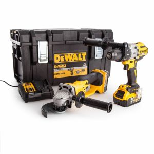 DeWalt DCK278P2 Combi Drill & Angle Grinder Twin Pack