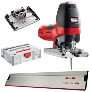 Mafell P1CC Precision Jigsaw Kit With Tilting Base and 800mm Rail