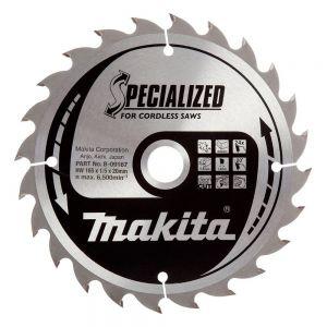 Makita B-09167 TCT Saw Blade 165 x 20 x 24 Teeth for Universal Cutting