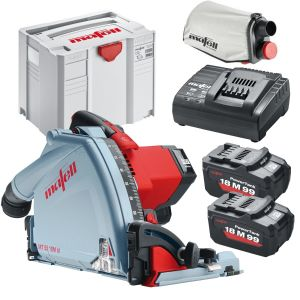 Mafell MT55 18M bl Cordless Plunge Saw Kit with 2 x 5.5Ah Batteries and APS 18 Charger