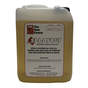 SPRAYCUT 5 Litre Misting Lubricating Oil for Metal Working ZS06