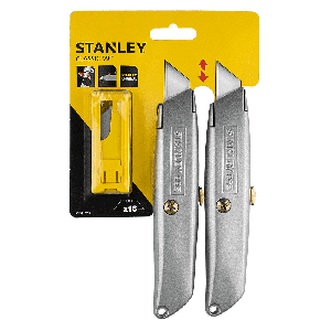 Stanley Classic 99E Utility Knife Twin Pack with 10 Blades STHT8-10099