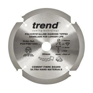 Trend PCD/FSB/1654 Cement Fibre Board Saw Blade 165mm x 20mm x 4 Teeth