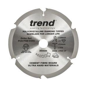 Trend PCD/FSB/2356 Cement Fibre Board Saw Blade 235mm x 30mm x 6 Teeth