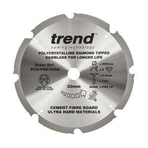 Trend PCD/FSB/3058 Cement Fibre Board Saw Blade 305mm x 30mm x 8 Teeth