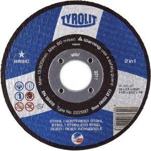 Tyrolit 222900 125mm x 1.6mm 2 in 1 Flat Metal Cutting Discs