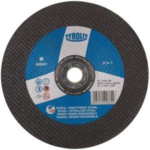 Tyrolit 222854 100mm x 6mm 2 in 1 DPC Metal Grinding Discs