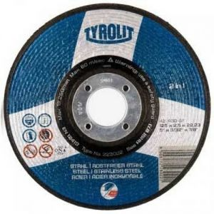 Tyrolit 223022 125mm x 2.5mm 2 in 1 DPC Metal Cutting Discs