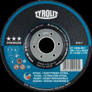 Tyrolit 34046120 115mm x 7mm Premium 2 in 1 DPC Metal Grinding Discs