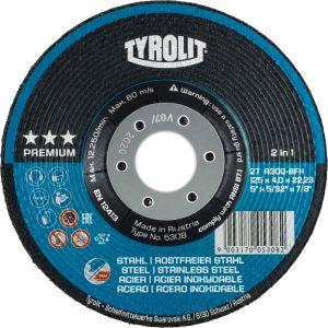 Tyrolit 34046131 125mm x 7mm Premium 2 in 1 DPC Metal Grinding Discs