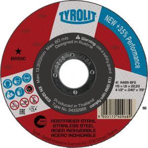Tyrolit 367561 115mm x 1.6mm Inox Super Thin Flat Metal Cutting Discs 34332833
