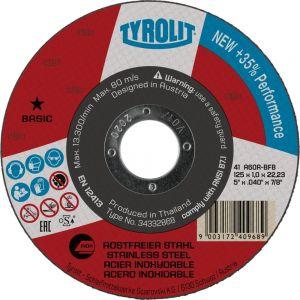Tyrolit 222896 125mm x 1mm Inox Super Thin Flat Metal Cutting Discs