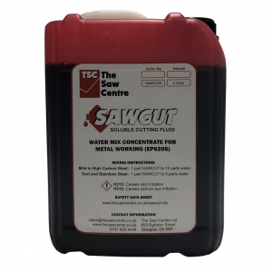 SAWCUT 5 Litre Soluble Cutting Oil for Metal Working EP620S